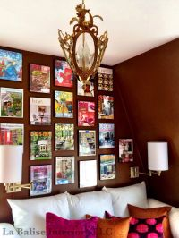 Home Office - Magazine covers provide a colorful wall ...