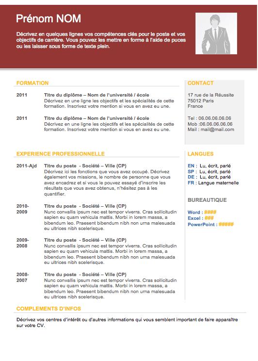 cv avec cv design pdf