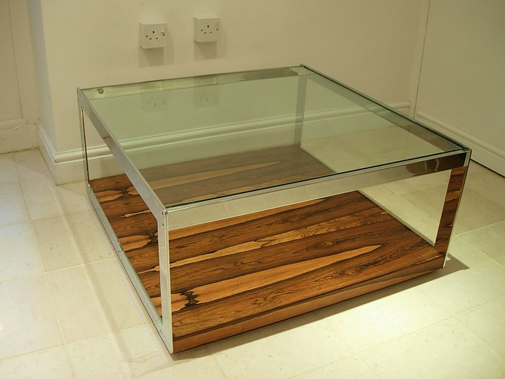 Chrome Coffee Table Merrow Square Coffee Table Rosewood Chrome And Glass