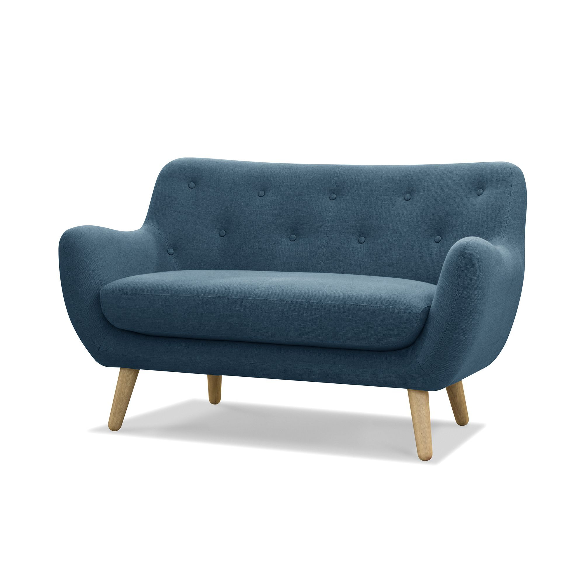 Alinea Chaise Blanche Interesting Canap Places Esprit Seventies En Tissu Bleu