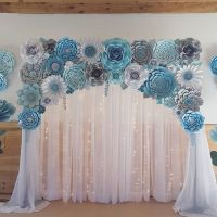 Baby shower backdrop. #paperflowers #paper #paperflorist # ...
