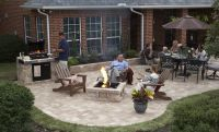 stonepatio with fire pit | RumbleStone Patio, Grill ...
