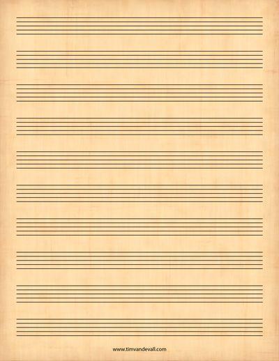 printable sheet music PRINTABLES Pinterest Printable sheet - music staff paper template