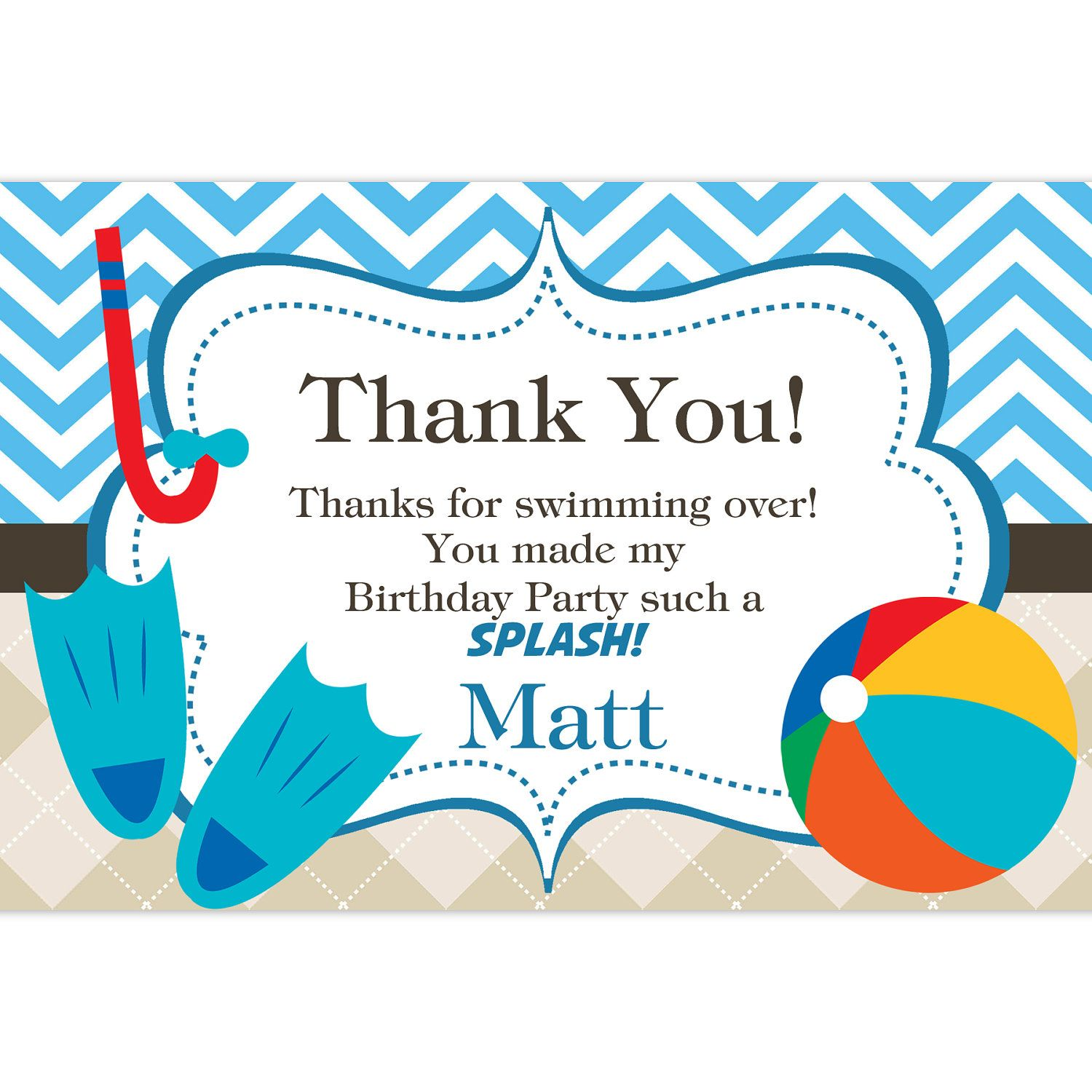 Luau Party Invitation Templates Thank Notes And Blank Party Cards – Swimming Party Invitation Template