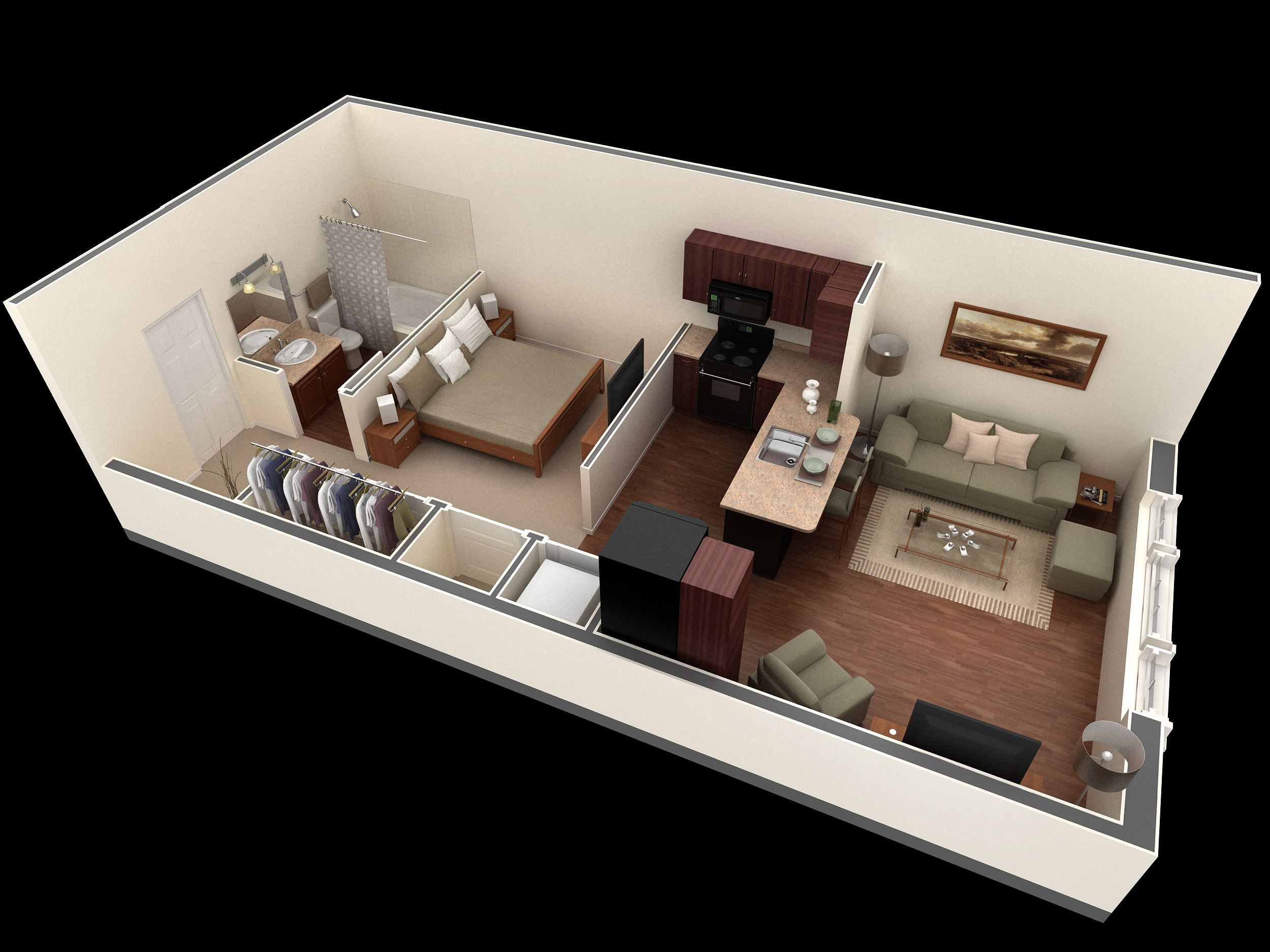 Beds For Small Studio Apartments Best 25 43 Small Apartment Layout Ideas On Pinterest