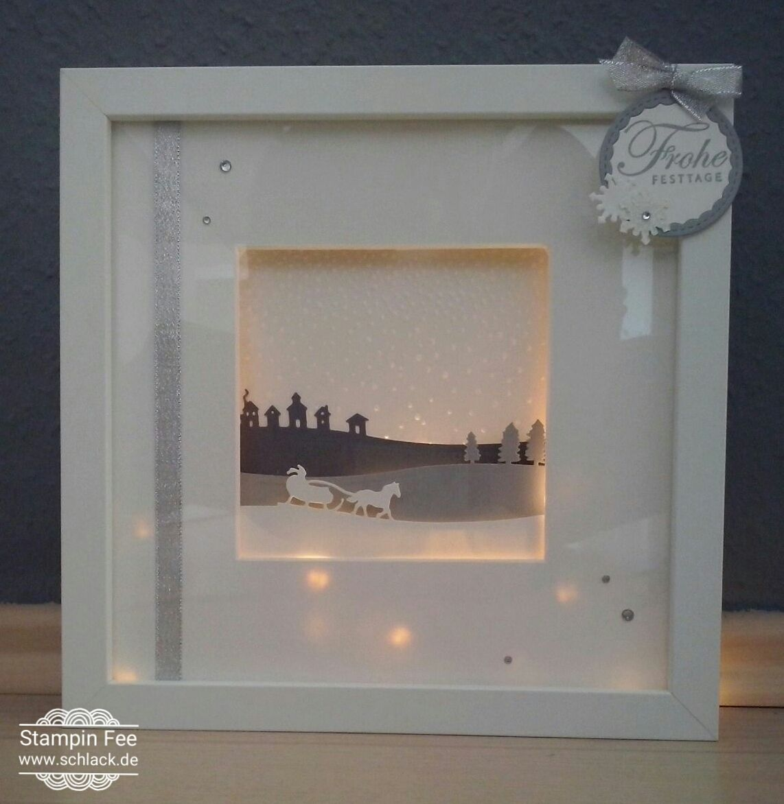 Bilderrahmen Mit Licht Stampin Frame Light Winter Slight Christmas Ribba Rahmen