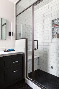 San Francisco Bathroom Remodel, Steam Shower, Black Hex