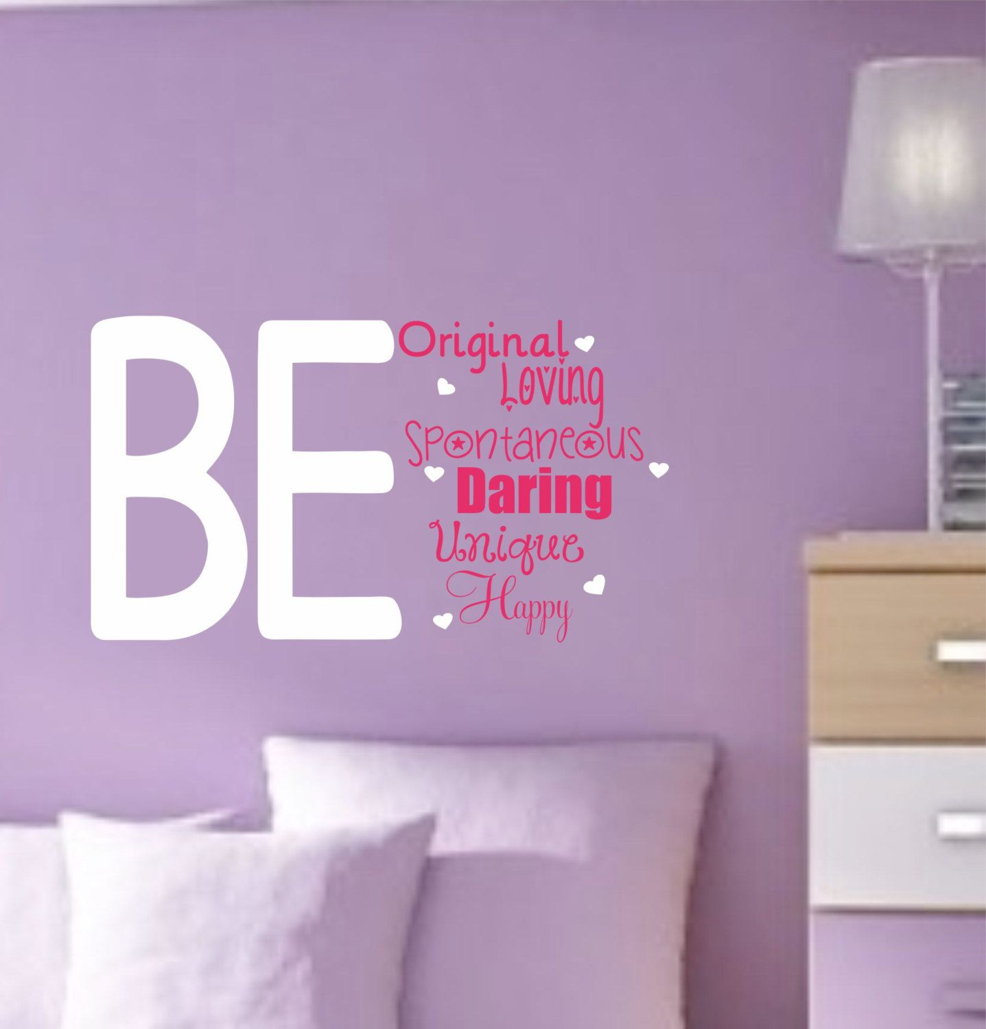 Girl vinyl wall decals teen saying bedroom decor by allonthewall 22 00