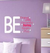 Girl Vinyl Wall Decals Teen Saying Bedroom Decor by ...