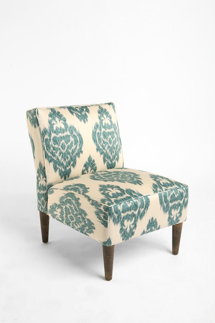 For living room turquoise ikat slipper chair from urban outfitters