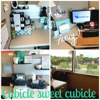 Updated cubicle makeover | Office Space | Pinterest ...