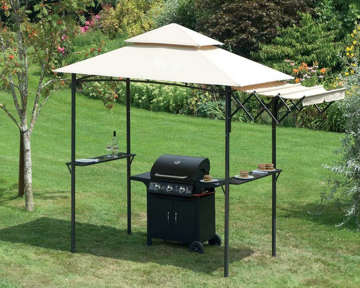 Abri Pour Barbecue Exterieur Bbq Shelter With Extending Awning Gazebo Ideal Uk Barbecue