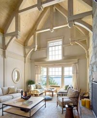 cathedral ceiling design ideas exposed beams natural wood ...