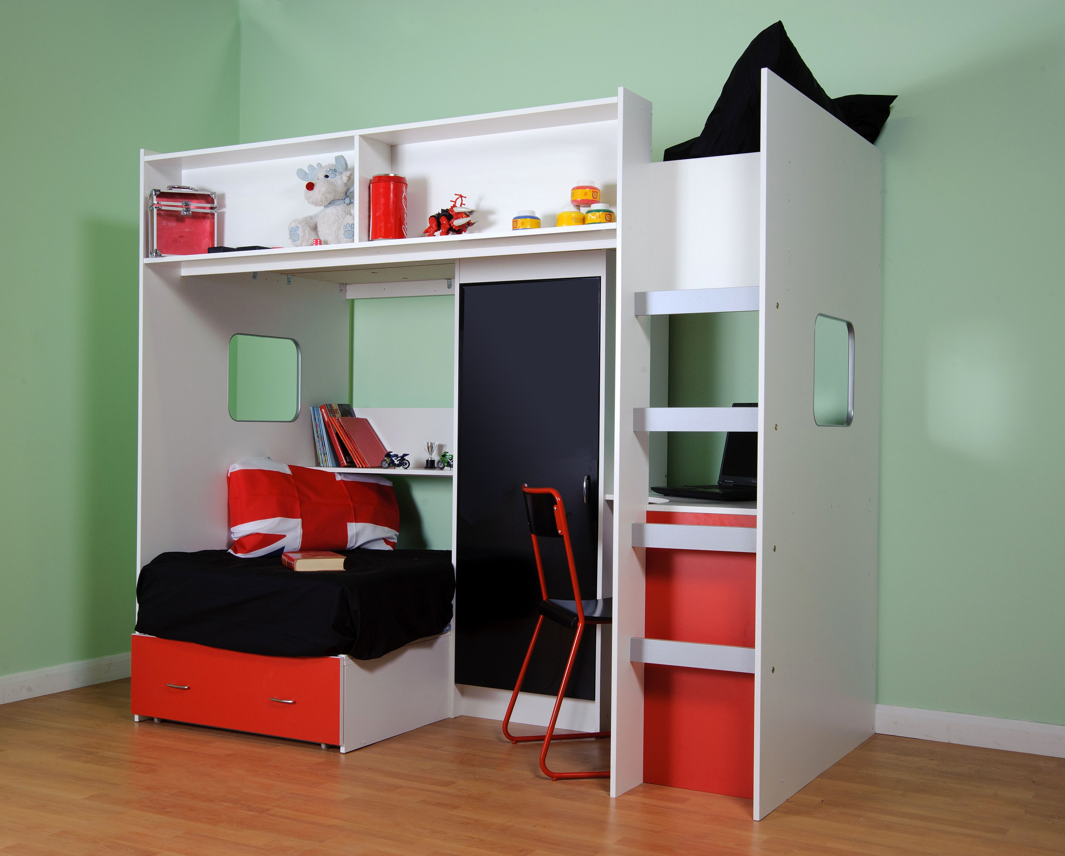 Rutland high sleeper cabin bed it has all the storage space your child could need
