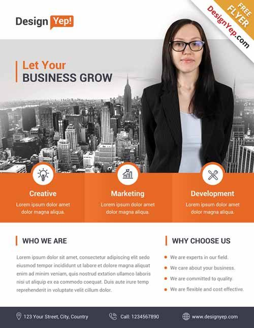Corporate Business Free Flyer PSD Template - http\/\/freepsdflyer - corporate flyer template