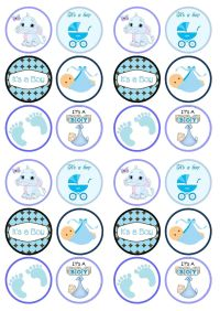 cupcake toppers baby shower - Buscar con Google | beb y ...