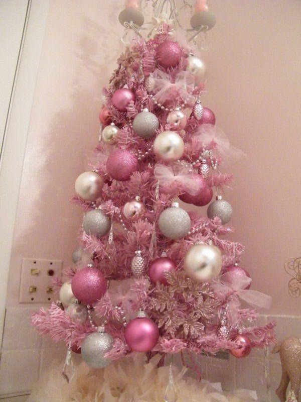 20 Amazing Christmas Tree Decoration Ideas \ Tutorials Pink - mini christmas tree decorations