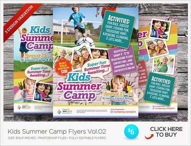 Kids Summer Camp Flyers - camp flyer template