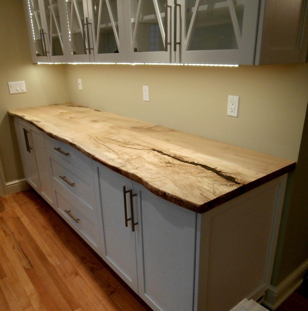 slab countertop wood kitchen countertops Diy Reclaimed Wood Countertop Pinterest Countertops The O