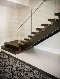Luxury residential open rise, contemporary stair design ...
