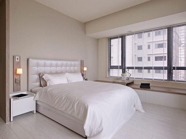 schlafzimmer modern gestalten weißes bett creme wandfarbe Ideas - schlafzimmer gestalten wandfarbe