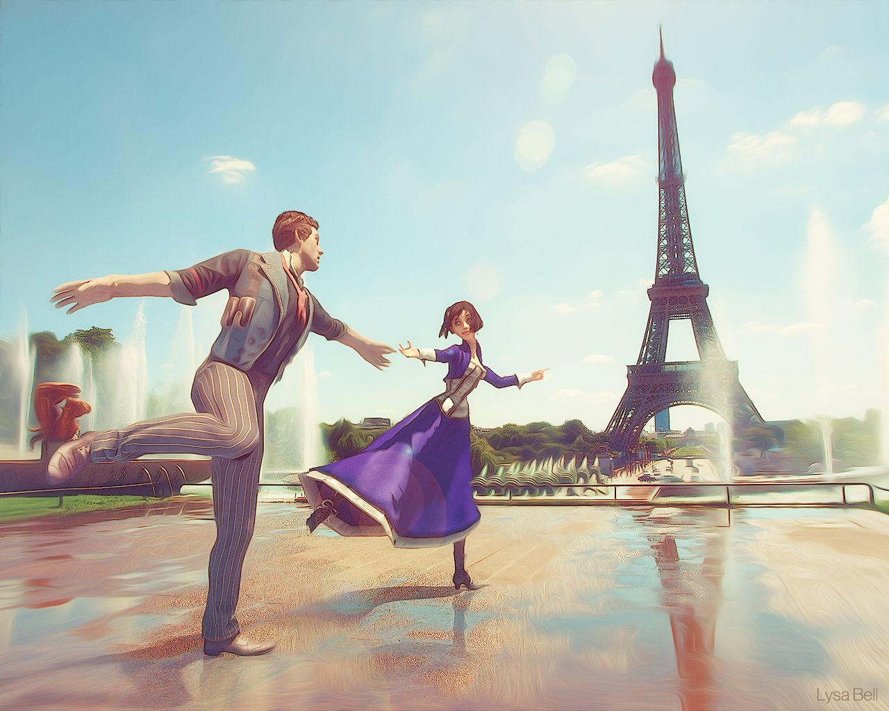 Bioshock Infinite Falling Wallpaper Bioshock Infinite Booker And Elizabeth Wallpaper Www