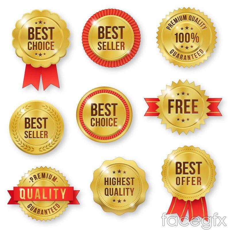 9 Golden quality sale tag vector vectors Pinterest - sale tag template