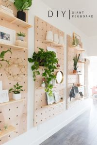 Giant Pegboard DIY! | Diy shelving, Shelving ideas and ...