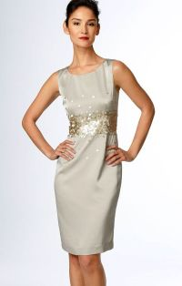 Image detail for -Silver Satin Cocktail Dress by Calvin ...