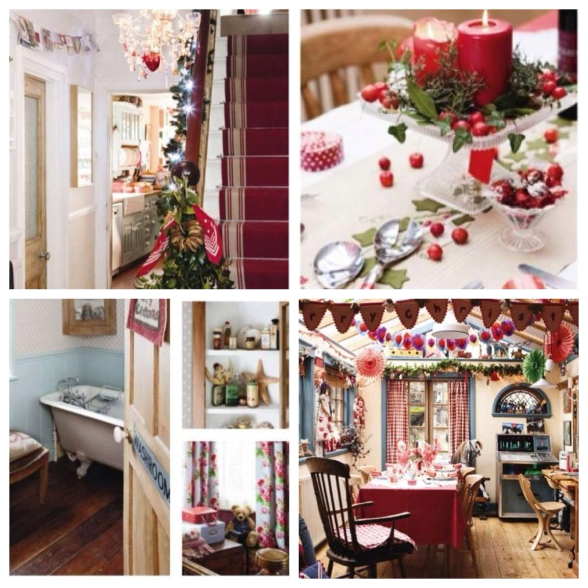Country Style Decor Country Chic Christmas Decorating Uk Christmas