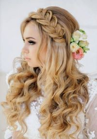 Braided Hairstyles for Wedding Party 2015 Long Curly ...