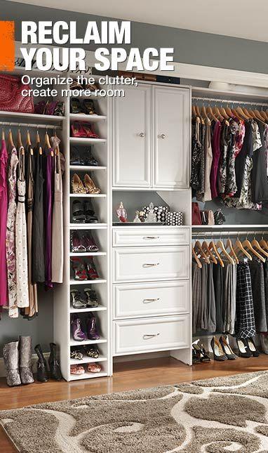 Home Depot closet organizer For the Home Pinterest - home depot closet design