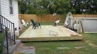 ground level small rectangular deck | Ground level deck ...
