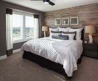 Contemporary Master Bedroom with Shaw Carpet - Beige ...
