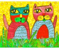 Cat Art, Whimsical Art, Funny Cat Print, Art For Kids, Cat ...