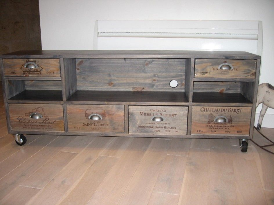 Caisse Bois Deco Tendance 2 Meuble Tv Pinterest Wine Boxes Industrial And Industrial