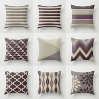 Throw Pillow Covers, Plum Purple Grey, Couch Cushion Cover ...