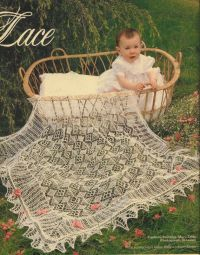 Shetland Lace shawl for baby christening present knitting ...