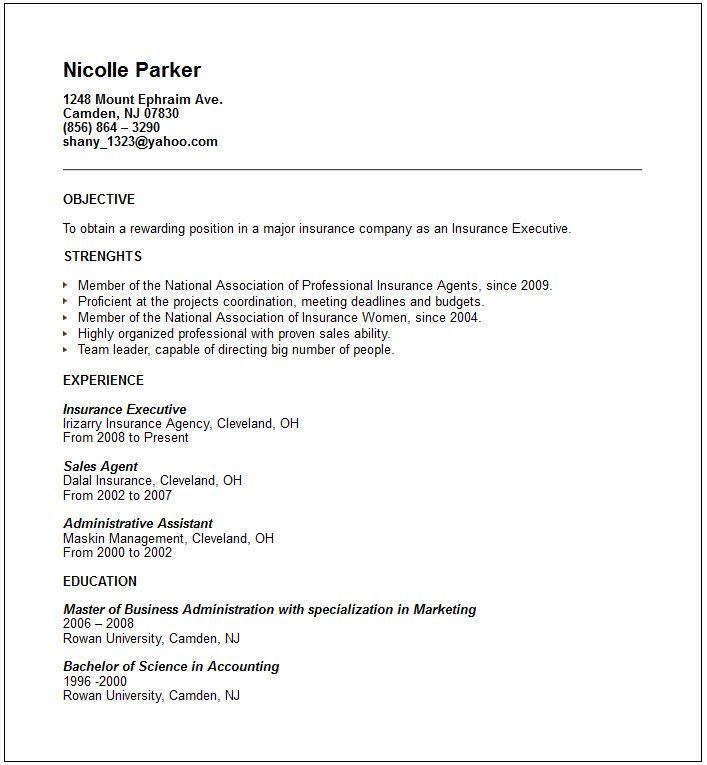 Job Resume No Experience Examples - Http://Www.Resumecareer.Info