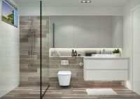 En-suite configuration inspiration, with shower window ...