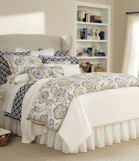 Noble Excellence Villa Amara Floral & Blue Ikat Bedding ...