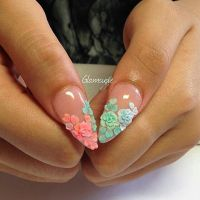 Glamsusie acrylic flowers on nails   Acrylic Flowers on ...