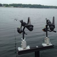 2 rod holder spider rig setup mini t bar for crappie ...