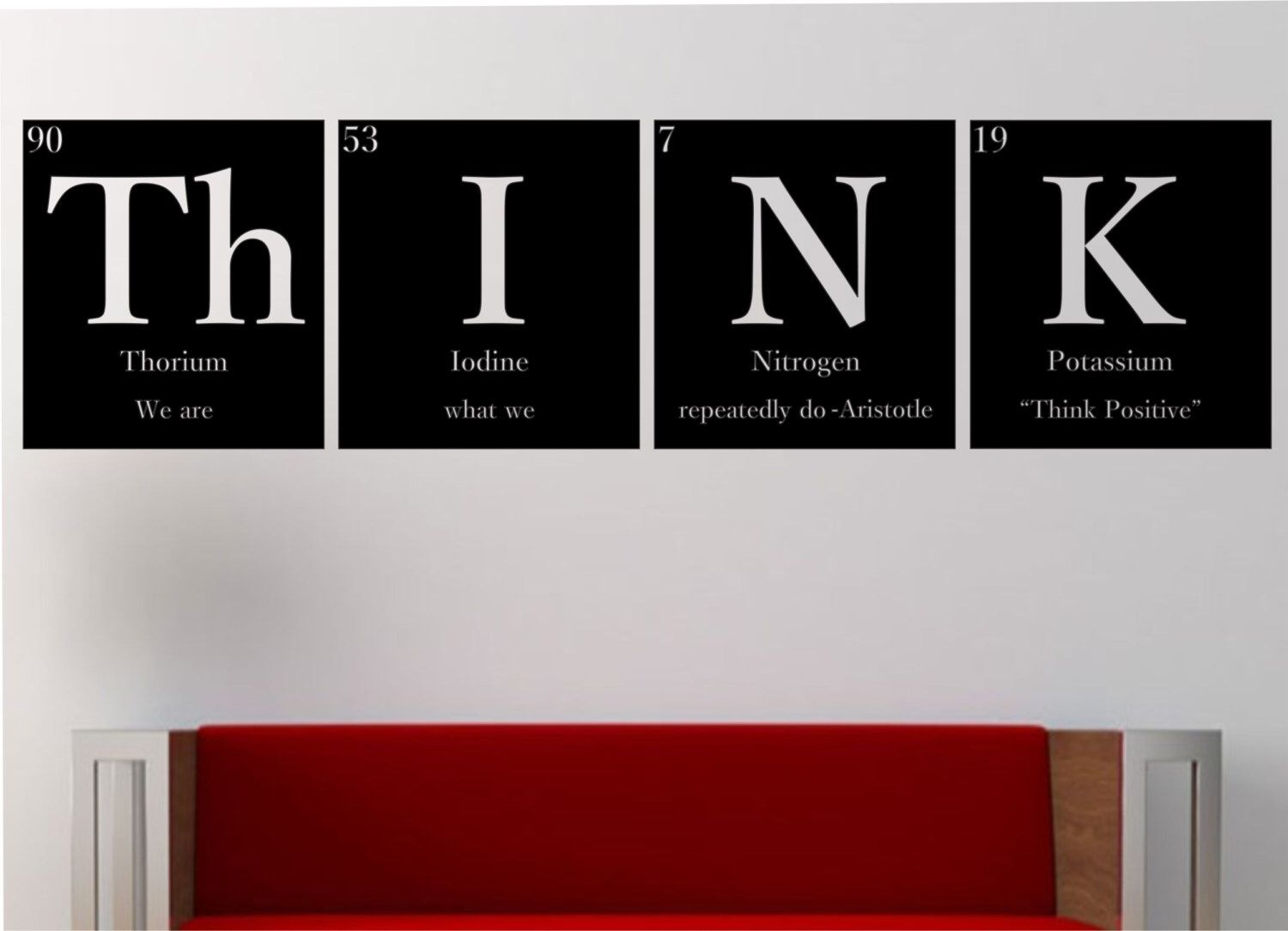 Geek Wall Art Think Quot Quotwith Quote Quot Quot Periodic Table Elements Vinyl Wall