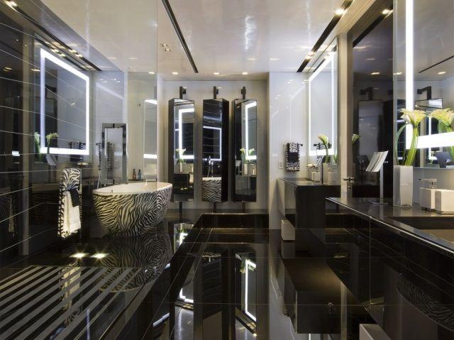... Badezimmer Luxus Design Schwarz Badewanne Zebra Muster Bad   Badezimmer  Luxus