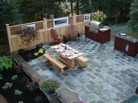exciting outdoor living kitchen area: outdoor living space ...