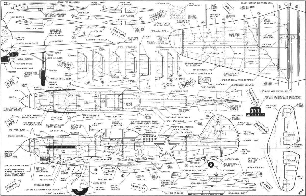 rc airplane schematics