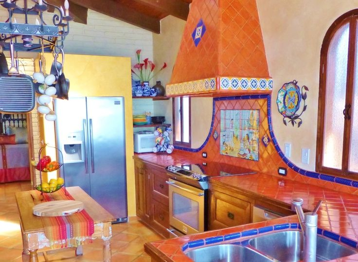 mexican kitchen cabinets mexican tile kitchen Mexican Themed - mexican kitchen design