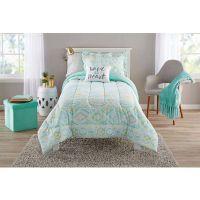 Teen Girls Bedding Twin Mint Green Tribal Ikat Comforter ...