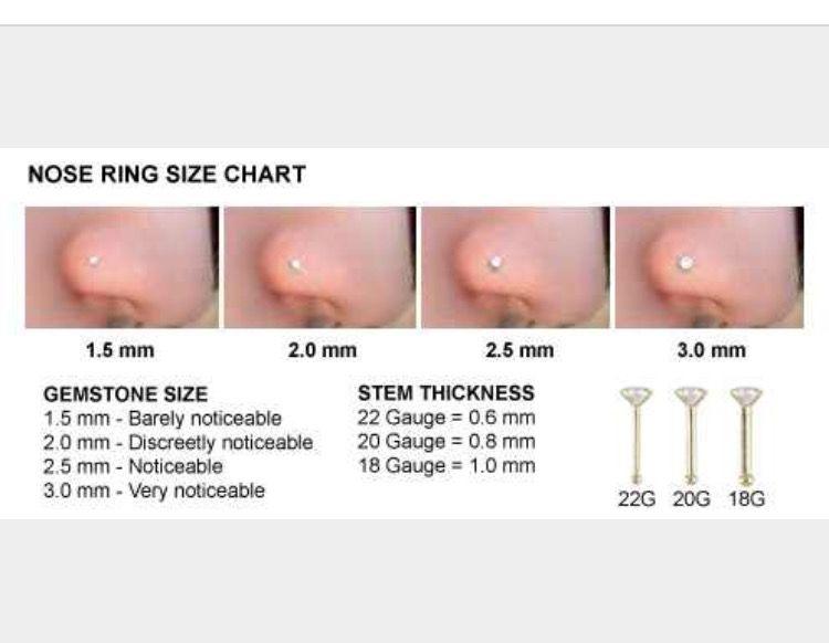 Nose Ring Size Chart Monaylizz